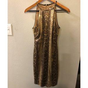 NWT Sassy Snakeskin Sequin Dress